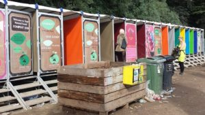 Festival outdoor toilets