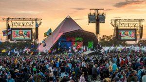 Glastonbury festival tent