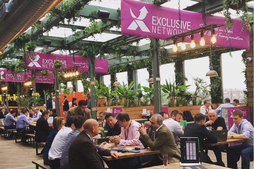 venue finding perrgola event for exclusive networks