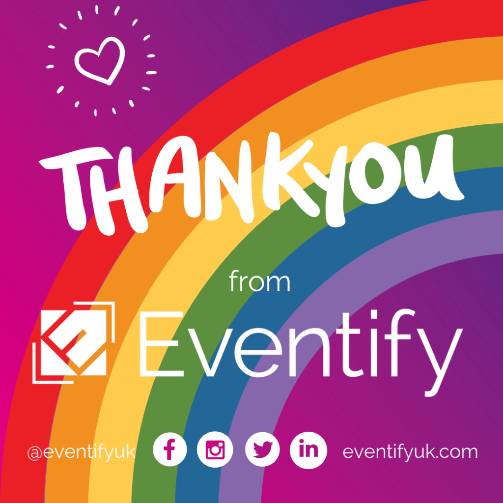 Thank you Eventify Rainbow Heart