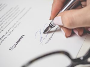 Event Contract Signing