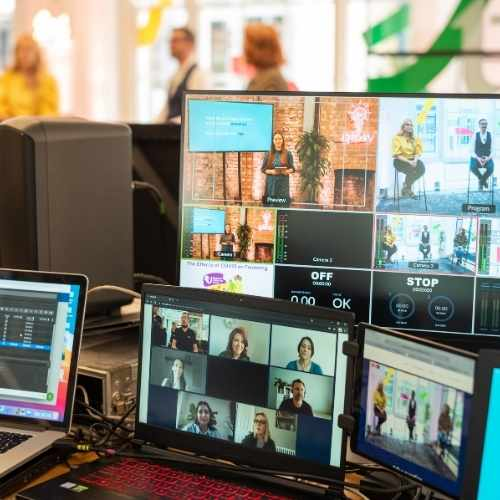 Treatwell Connect Look Forward 2021 Eventify Hybrid Screens ad Studio